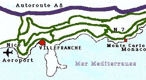 (Villefranche area map)